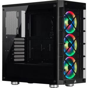 Corsair iCUE 465X RGB Temperli Cam Mid Tower ATX Bilgisayar Kasası-Siyah
