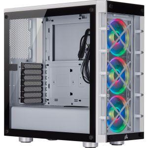 Corsair iCUE 465X RGB Temperli Cam Mid Tower ATX Bilgisayar Kasası-Beyaz