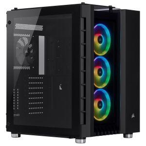 Corsair Crystal 680X RGB Temperli Cam Mid Tower ATX Bilgisayar Kasası