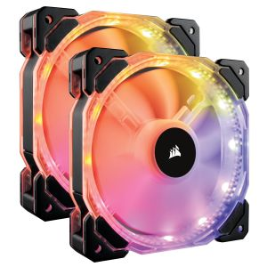 Corsair HD140 PWM RGB LED Yüksek Performans Kontrol Üniteli 2'li Paket 140mm Fan