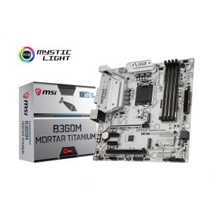 MSI B360M MORTAR TITANIUM 1151P v2 DDR4 2666MHz mATX Anakart