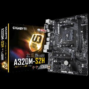Gigabyte A320M-S2H AM4 DDR4 3200MHz(OC) Anakart