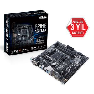 ASUS PRIME A320M-A DDR4 3200MHz AM4 mATX Anakart