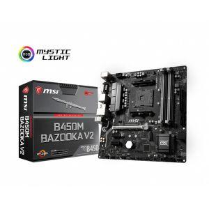 MSI B450M BAZOOKA V2 DDR4 3466MHz (OC) AM4 mATX Anakart