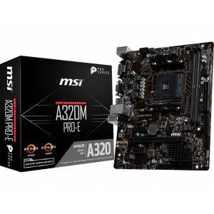 MSI A320M PRO-E 3200 MHz DDR4 AM4 mATX Anakart