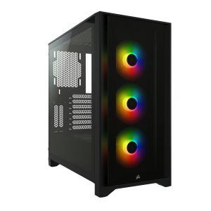 Corsair iCUE 4000X RGB Temperli Cam Mid-Tower ATX Siyah Bilgisayar Kasası
