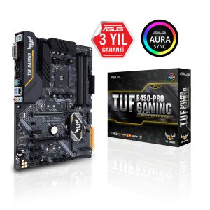 ASUS TUF B450-PRO GAMING DDR4 3533 MHz AM4 ATX Anakart