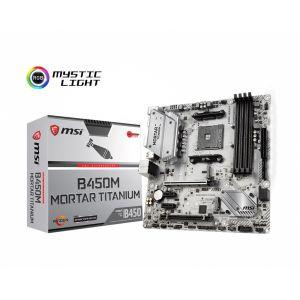 MSI B450M MORTAR Titanium DDR4 3466MHz (OC) AM4 mATX Anakart