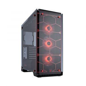 Corsair Crystal 570X RGB Fanlı Temperli Cam Kırmızı Kasa