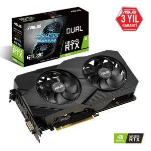 ASUS Dual GeForce RTX 2060 EVO 6GB 192 Bit Ekran Kartı