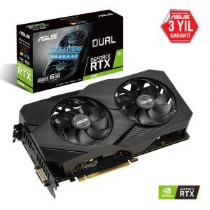 ASUS DUAL GeForce RTX 2060 Advanced Edition EVO 6GB 192 Bit Ekran Kartı