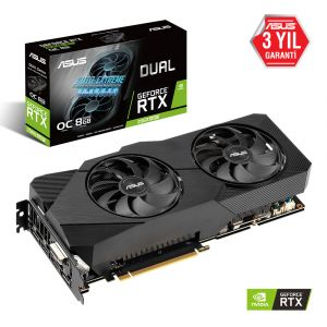 ASUS DUAL GeForce RTX 2060 SUPER OC EVO 8GB 256 Bit Ekran Kartı