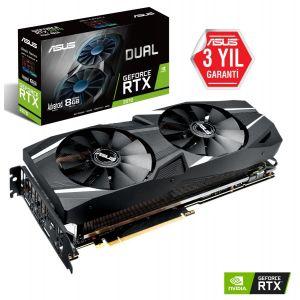 ASUS DUAL GeForce RTX 2070 Advanced 8GB 256 Bit Ekran Kartı