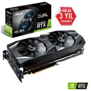 ASUS DUAL GeForce RTX 2070 OC 8GB 256 Bit Ekran Kartı