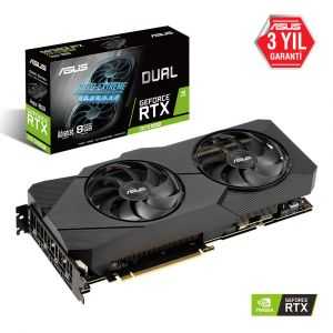 ASUS DUAL GeForce RTX 2070 SUPER EVO Advanced 8GB 256 Bit Ekran Kartı