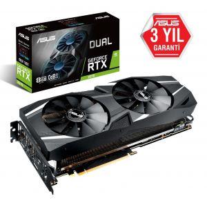 ASUS DUAL GeForce RTX 2080 8GB 256 Bit Ekran Kartı