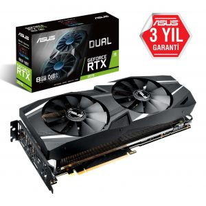 ASUS DUAL GeForce RTX 2080 Ti Advanced 11GB 352 Bit Ekran Kartı