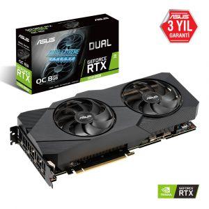 ASUS DUAL Geforce RTX 2080 Super OC EVO V2 8GB 256 Bit Ekran Kartı