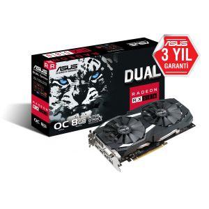 ASUS DUAL RX580 OC 8GB 256 Bit Ekran Kartı