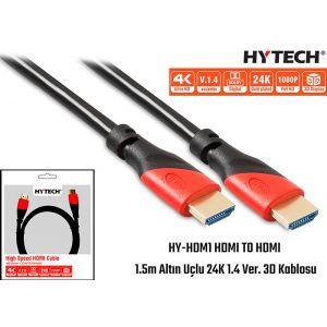 Hytech HY-HDM1 HDMI TO HDMI 1.5m Altın Uçlu 24K 1.4 Ver. 3D Kablosu