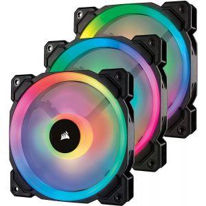 Corsair LL120 RGB İkili Renk Döngülü 120mm PWM Fan 3'lü Paket + Lighting Node Pro Kontrolcü