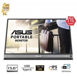 ASUS ZenScreen MB16AC 15.6'' Full HD IPS Taşınabilir USB Monitör