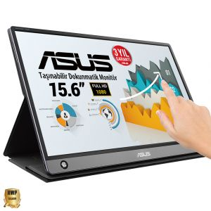 ASUS ZenScreen Touch MB16AMT 15,6 inç, IPS, Full HD, Dokunmatik USB Taşınabilir Monitör
