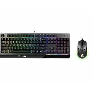 MSI Vigor GK30 RGB Türkçe Oyuncu Klavyesi ve MSI Clutch GM11 Oyuncu Mouse