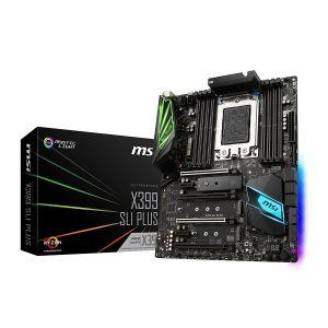 MSI X399 SLI PLUS DDR4 3600MHz OC TR4 ATX Anakart