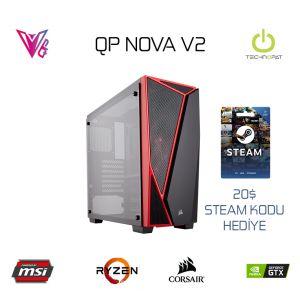 QP NOVA V2 - R3 2300X / 8GB / GTX 1650 4GB / 240GB SSD Oyun Bilgisayarı