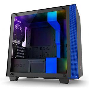 NZXT H400i mATX Akıllı Bilgisayar Kasası Mavi Siyah