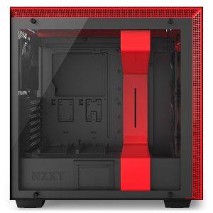 NZXT H700i Mid Tower Akıllı Bilgisayar Kasası Kırmızı Siyah