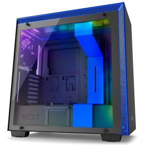 NZXT H700i Mid Tower Akıllı Bilgisayar Kasası Mavi Siyah