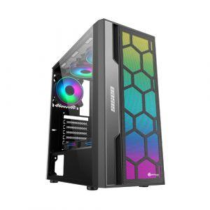 Performax Oasis Temperli Cam ARGB 650W PSU Mid Tower ATX Siyah Bilgisayar Kasası