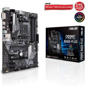ASUS PRIME B450-PLUS DDR4 4400MHz OC AM4 ATX Anakart