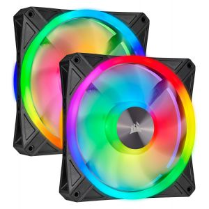 Corsair iCUE QL140 RGB 140mm PWM Kontrollü Fan İkili Paket ve Lighting Node Core Kontrolcü