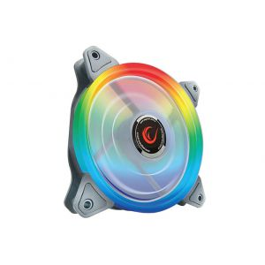 Rampage RBW-15 120*120*25mm Gökkuşağı 16m Renk 15*Led Kasa Fanı