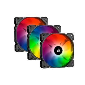 Corsair iCUE SP120 RGB Pro 120mm RGB Fan Üçlü Paket ve Lighting Node Core Kontrolcü