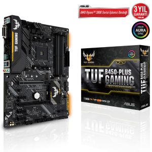 ASUS TUF B450-PLUS GAMING DDR4 4400MHz OC AM4 ATX Anakart