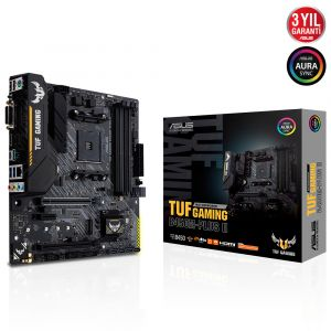 ASUS TUF B450M-PLUS GAMING II DDR4 4400MHz OC AM4 mATX Anakart