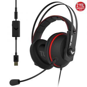 Asus TUF Gaming H7 7.1 Surround Oyuncu Kulaklığı -Kırmızı