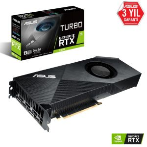 ASUS TURBO GeForce RTX 2070 8GB 256 Bit Ekran Kartı