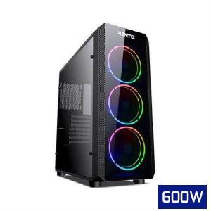 Vento VG04F Temperli Cam Mid Tower ATX RGB Bilgisayar Kasası FSP HP600S 600W Güç Kaynağı