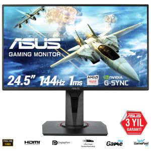 Asus VG258Q 24,5'' 1ms 144Hz FHD FreeSync™ ve G-Sync Uyumlu Monitör