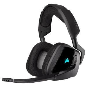 Corsair Void RGB Elite 7.1 Kablosuz Oyuncu Kulaklığı-Siyah