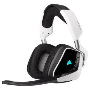 Corsair Void RGB Elite 7.1 Kablosuz Oyuncu Kulaklığı-Beyaz