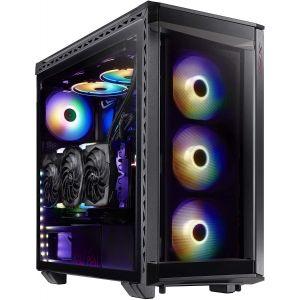 XPG Battlecruiser RGB Temperli Cam Mid-Tower ATX Siyah Bilgisayar Kasası