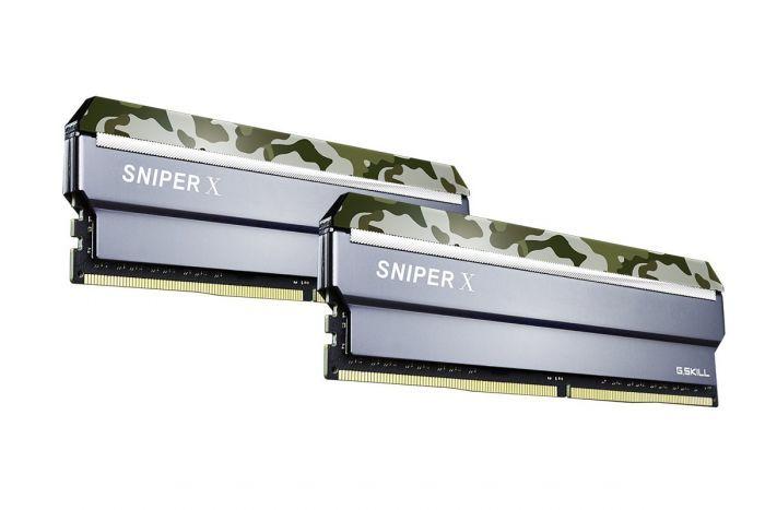 GSKILL SniperX Orman Kamuflaj 16GB (2X8GB) DDR4 3000Mhz CL16 Ram