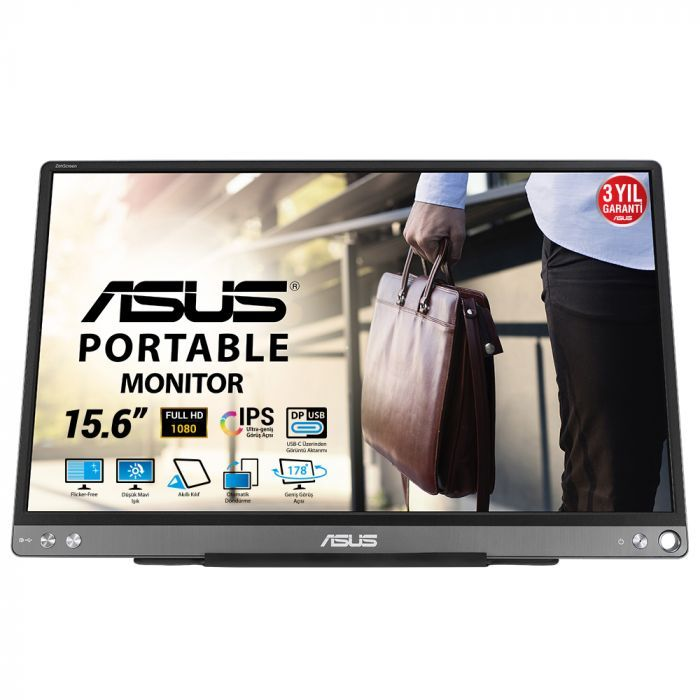 Asus ZenScreen MB16ACE 15.6'' 5ms Full HD USB Type-C Taşınabilir Monitör