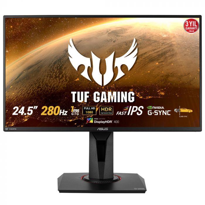 Asus TUF Gaming VG259QM 24.5'' 1ms 280Hz Full HD G-Sync Uyumlu HDR400 IPS Oyuncu Monitörü